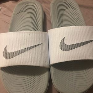 Nike slip in sandals size 5 youth